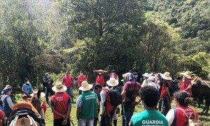 En la actividad participaron personas en proceso de reincorporación, comunidades indígenas, funcionarios de una organización civil dedicada al desminado y de la Misión de Verificación de la ONU en Colombia.