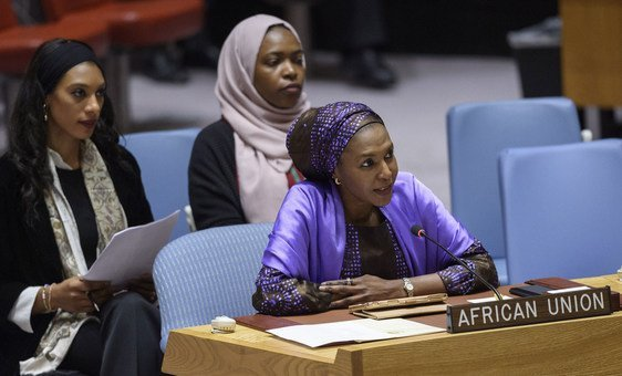 Fatima Kyari Mohammed, Permanent Observer of the African Union to the UN addressed Security Council meeting on Peace and Security in Africa. (4 November 2019)