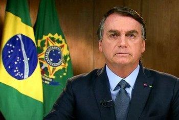 Presidente Jair Bolsonaro disse que o Brasilaposta em atingir a neutralidade de carbono até 2050