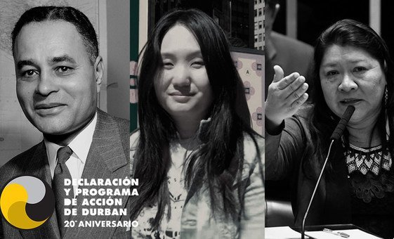 Un collage de fotos que incluye varios héroes contra el racismo como Ralph Bunche, Amanda Phingbodhipakkiya yJoenia Wapichana.