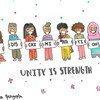 来自印度的12岁女孩卡尼妮卡绘制的画作,呼吁杜绝歧视,团结抗疫。