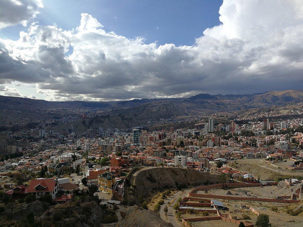 Vur sur La Paz, capitale de la Bolivie