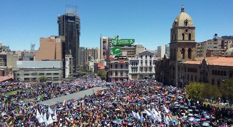 ARCHIVO. Protestas en La Paz, Bolivia