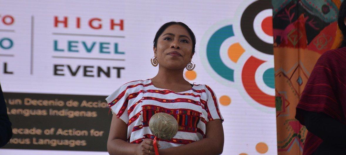 La actriz Yalitza Aparicio participa en un evento de alto nivel en México sobre la protección de las lenguas indígenas.
