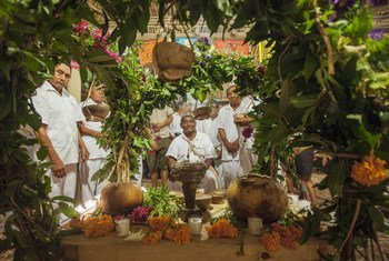 Altar del Día de Muertos en Tres Reyes, Quitana Roo, México