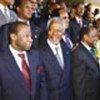 Kofi Annan con algunos <br> líderes africanos
