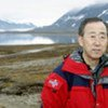 Ban Ki-moon à Ny-Alesund, Norvège