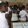 Des enfants haïtiens de retour à l'école.