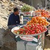 Un marché de fruits et légumes à Gaza.
