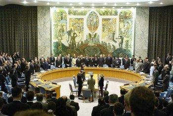 安理会悼念2001年9月11日遇难者的默哀仪式。