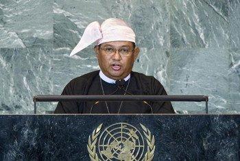 Le Ministre des affaires étrangères du Myanmar, Wunna Maung Lwin.