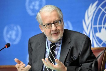 Le Président de la Commission d'enquête sur la Syrie, Paulo Pinheiro. Photo ONU/ Jean-Marc Ferre