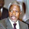 Le Secrétaire général de l'ONU, Kofi Annan