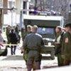 A KFOR ambulance evacuates a victim