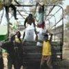 Unloading food aid in Guinea
