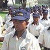 Police cadets in Timor