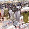 توزيع الأغذية في السودان