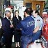 Kofi Annan, his wife Nane, visiting fire station