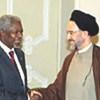 Kofi Annan et le Président Khatami