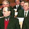 Le Président, Ibrahim Rugova (à gauche) et Bajram Rexhepi, Premier ministre