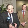 Conférence de presse de Martti Ahtisaari