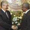 Kofi Annan accueille Naji Sabri, ministre iraquien des affaires étrangères