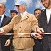 M. de Mistura (au centre) en compagnie de personnalités libanaises