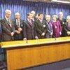 Représentants de l'UE à la cérémonie de signature
