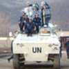 UN police on patrol in Kosovo