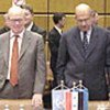 MM. Hans Blix (à gauche) et Mohamed ElBaradei