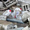 Ruines de l'entrepôt du PAM à Gaza