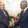 Kofi Annan et le Vice-Président sud-africain, Jacob Zuma