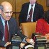 Dr. ElBaradei and Amb. Nabeela Al-Mulla at board meeting
