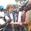 Mary Ann Wyrsch au camp Largo en Sierra Leone