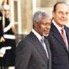 Kofi Annan et le Président  français, Jacques Chirac