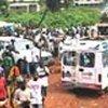 Des réfugiés libériens au camp du HCR à Tabou