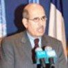 Mohamed ElBaradei s'adresse à la presse