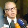 Hans Blix s'adresse à la presse