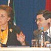 Ms. Mervat Tallawy and Michel Moussa of Lebanon