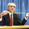 Joseph Chamie pendant la conférence de presse