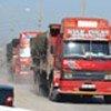 Camions chargés de nourriture en partance pour l'Iraq (PAM)