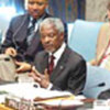 Annan addressing Security Council