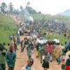 Population fuyant les combats à Bunia, en RDC