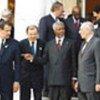 Kofi Annan with G-8 leaders at meeting in Evian-les-Bains