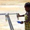 Réfugiée libérienne  à Tabou, en Côte d'Ivoire