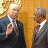 الأمين العام مع وزير الخارجية الأمريكي كولن باول