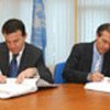 Michael Steiner signs agreement with Minister Arben  Malaj