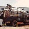 Livraison de semences par camion dans le Sud-Soudan