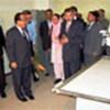 Kunio Waki  & others inside X-ray room