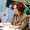 Mme Anna Palacio, ministre des Affaires étrangères de l'Espagne, préside la séance
